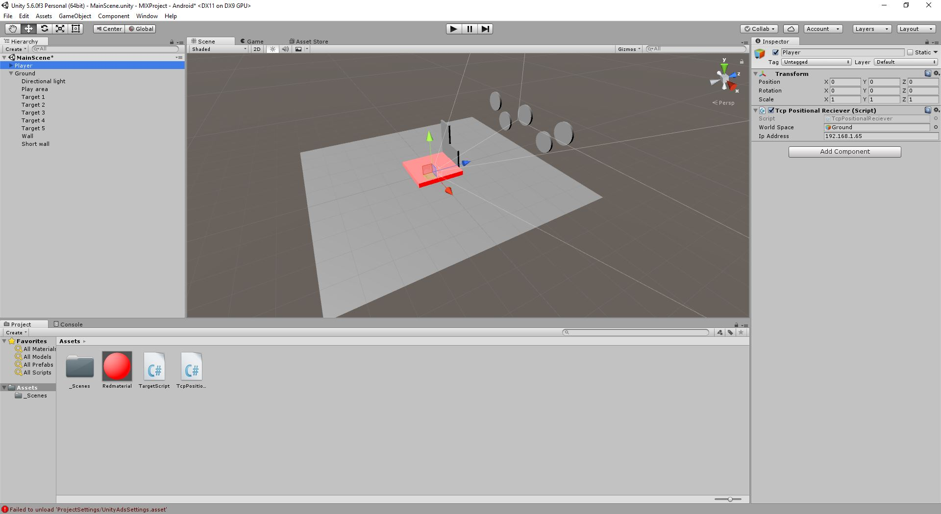 Unity screenshot